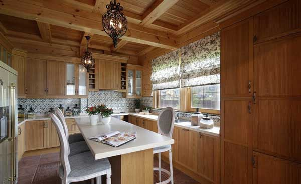 Природные тона в интерьере кухни