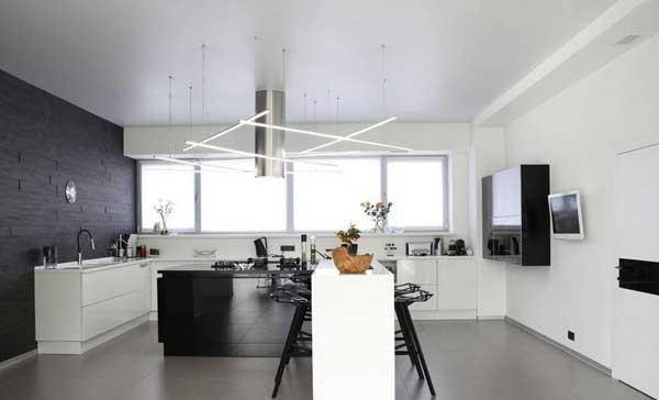 Контрасты в интерьере кухни