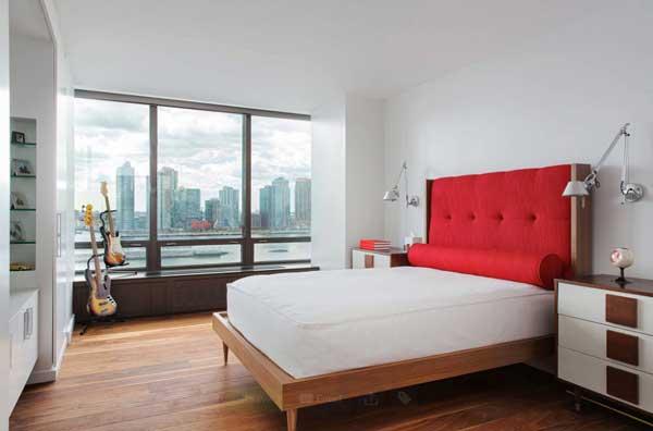 Дополнительная мебель в современной спальне