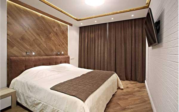 Использование текстиля в спальне в современном стиле