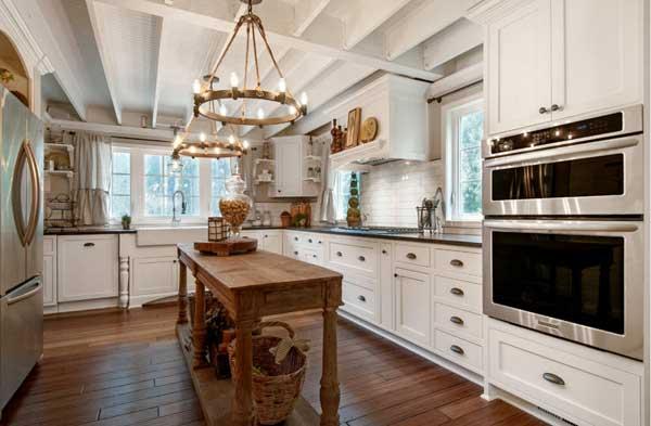 Различные типы конструкций люстры для кухни