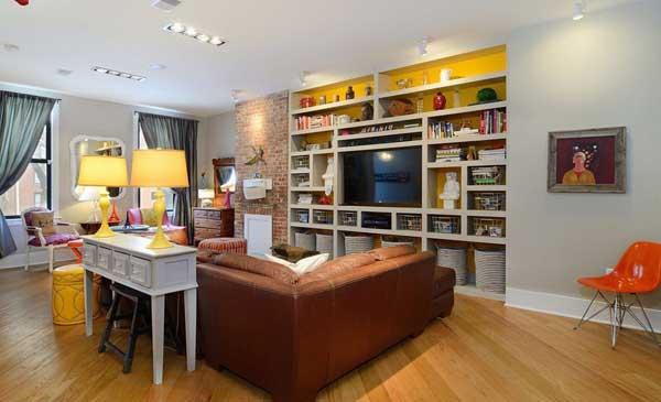 Стильная гостиная в электичном дизайне