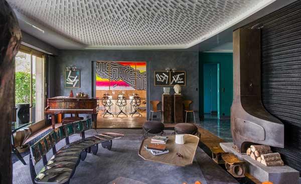 Современный электичный дизайн гостиной