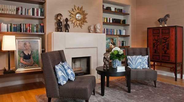 Место для чтения в электичной гостиной