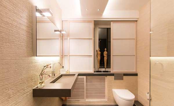 Ванная комната в приглушенных тонах