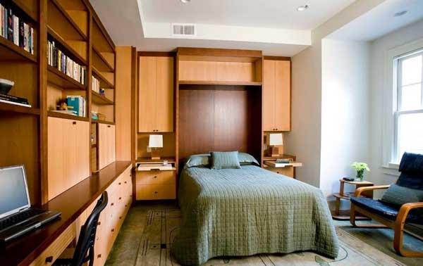 Как обустроить кабинет в спальне