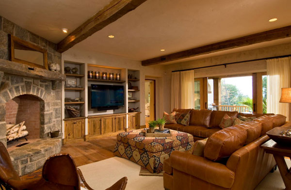 Шикарная гостиная с угловым диваном