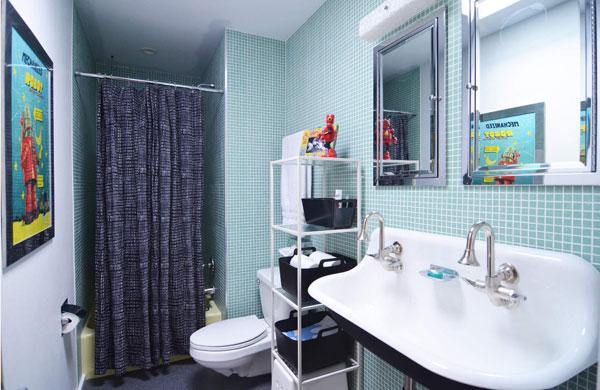 Оригинальный дизайн малогабаритной ванной