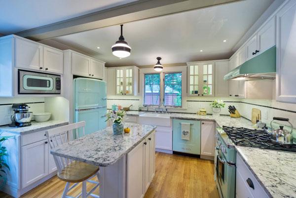 Дизайн кухни в ретро-стиле