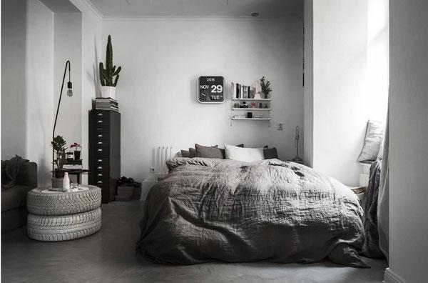 Спальня 2017 в скандинавком стиле