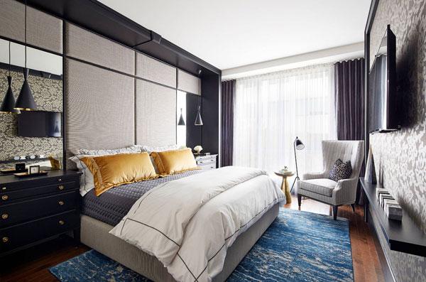 Спальня с акцентированной стеной