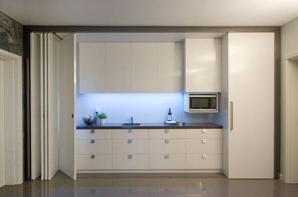 линейное размещение кухонного гарнитура