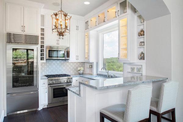 Г-образное размещение кухонного гарнитура