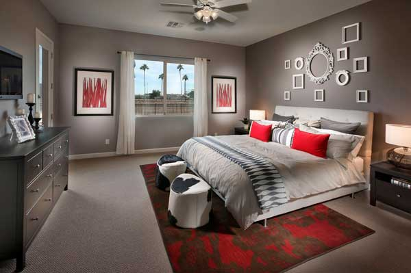 Дизайн спальни в частном доме 2017