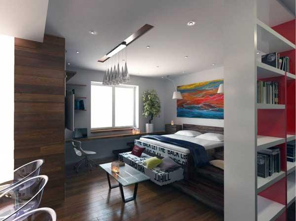 Дизайн однокомнатной квартиры площадью 30 кв. метров