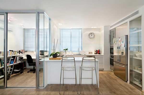 Оформление кухни в однокомнатной квартире