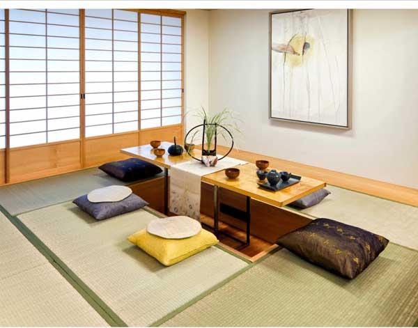 Оформление помещения в японском стиле