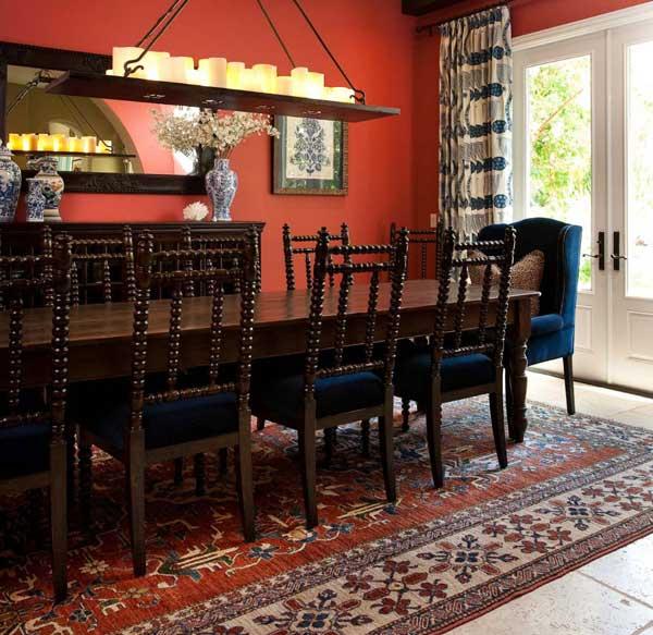 Форма стола и стульев для обеденной зоны