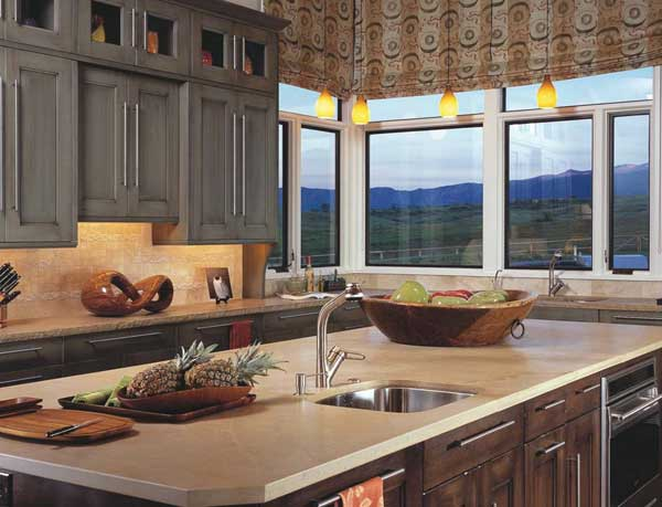Сочетание серого цвета с другими в дизайне кухни
